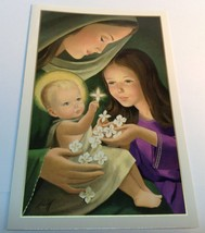 vintage French Canadian Style Christmas greeting card/ Carte De Noël - $6.64