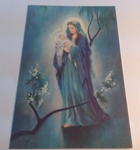 vintage French Canadian Christmas glossy greeting card/ Carte De Noël - $6.64