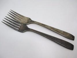 2 Vintage Silverplate Oneida Hotel Plate Dinner... - $10.84