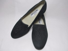 Black Suede Leather Trotters Block Heel 8 W 2A ... - $27.12