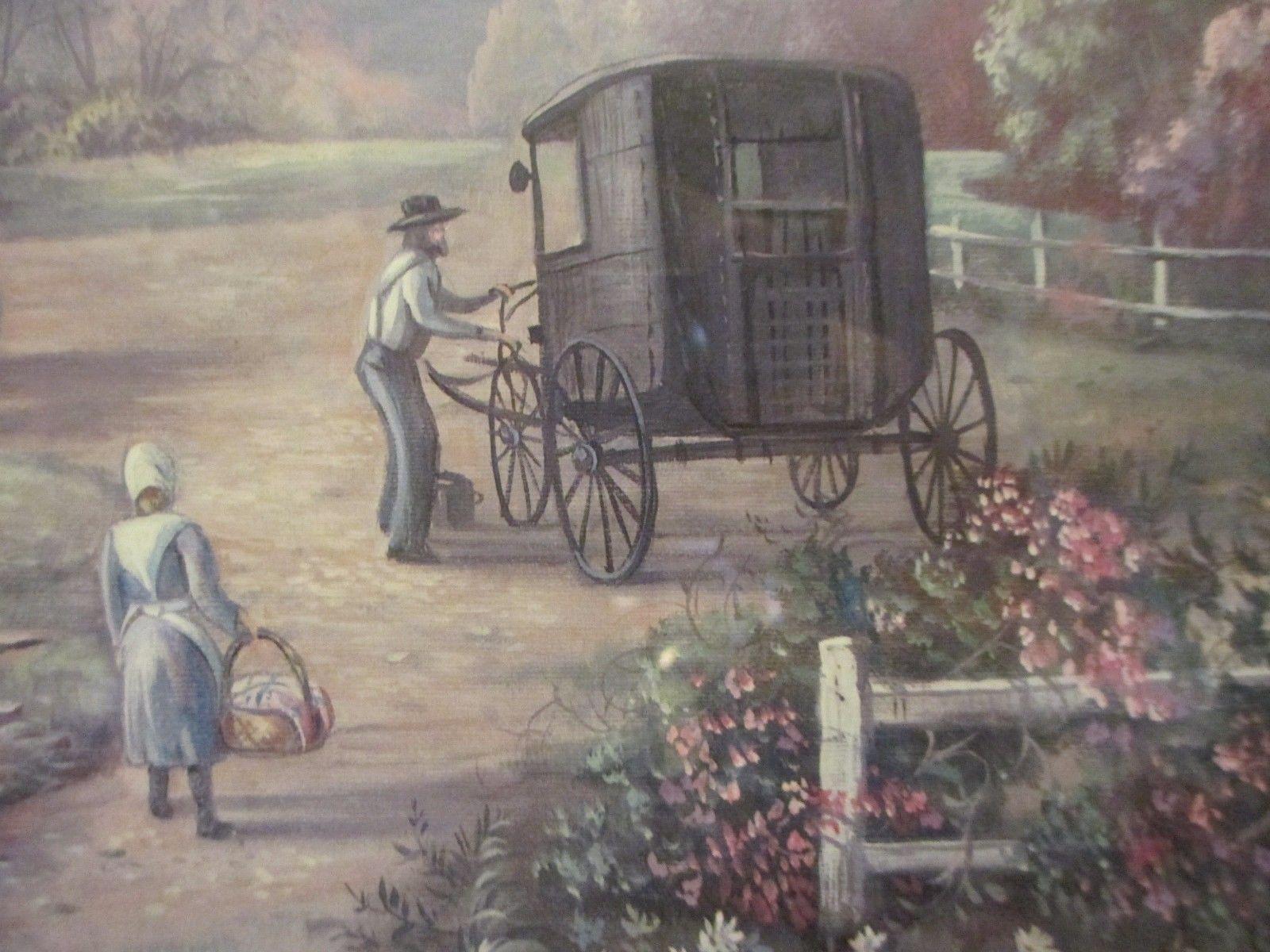 Vintage 26 Carl Valente Home Interiors Amish Life Framed