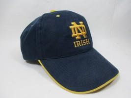 Vtg Signatures University of Notre Dame Fighting Irish Ball Cap Hat Velc... - $16.79