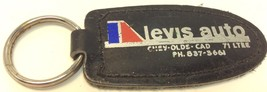 Vintage Car Dealership Leather Promo Keychain L... - $6.11