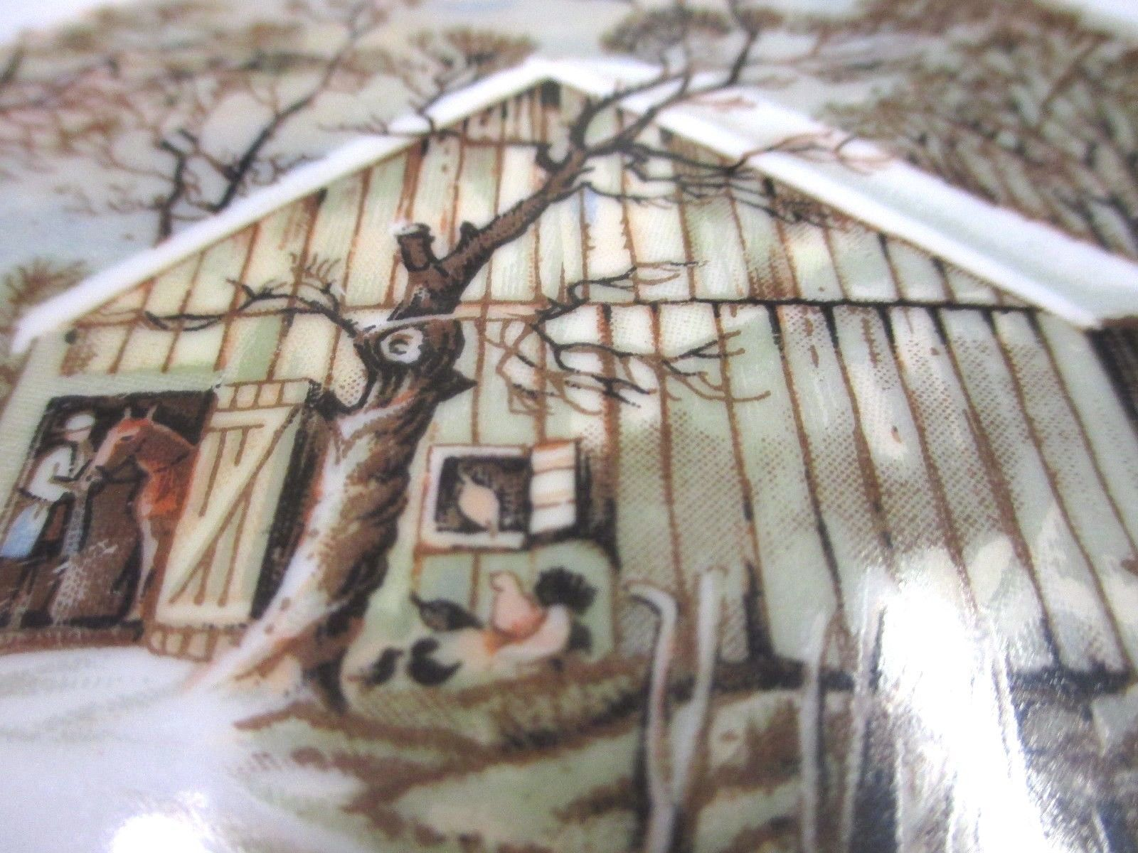 "Currier and Ives ""The Old Homestead in Winter"" Collecter Plate FREE SHIPPING!"