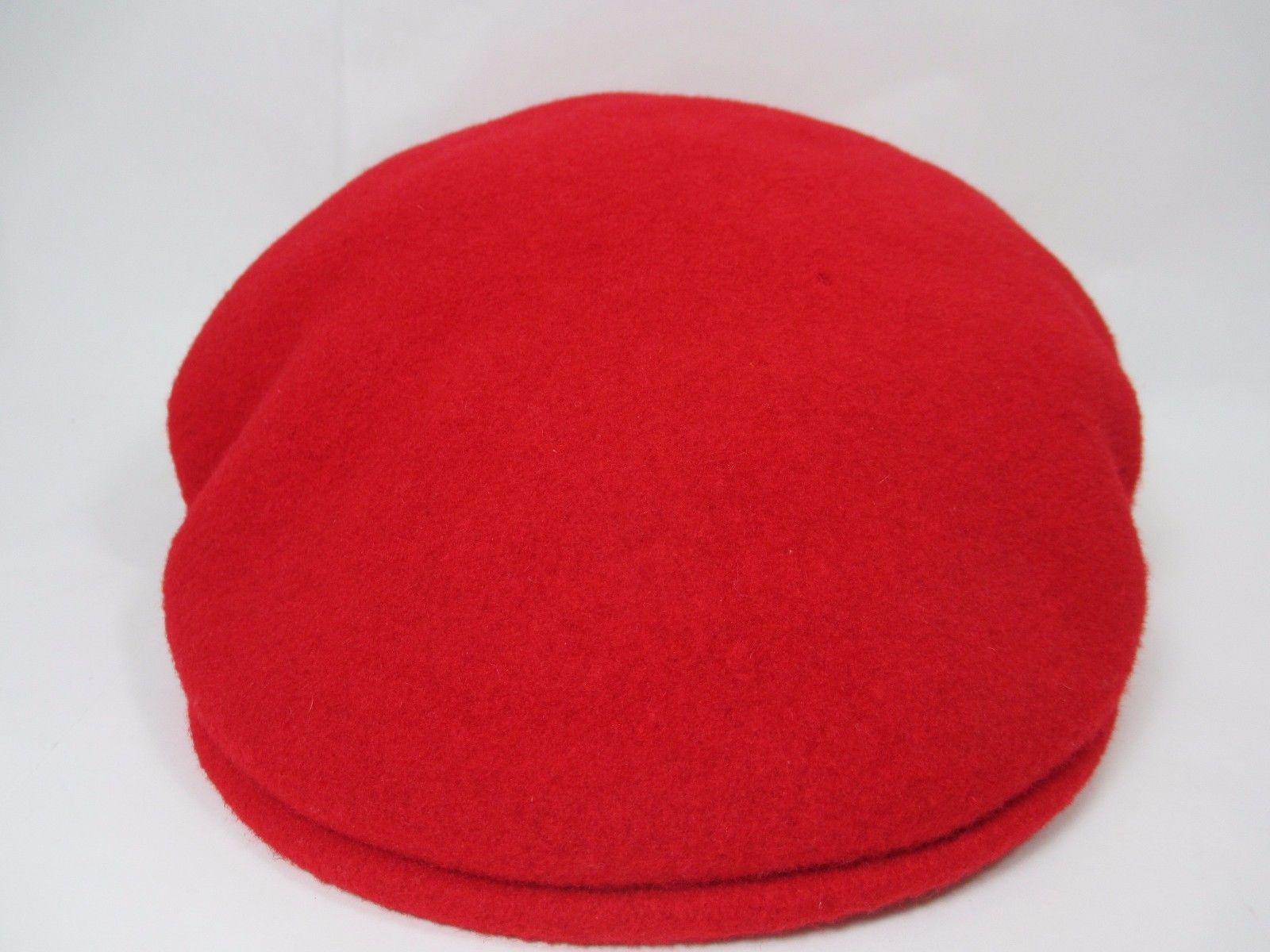 d6b6d039e8c07 Vintage Kangol 100% Pure Virgin Wool Red Cap Newsboys Cabbie Hat Size S  England