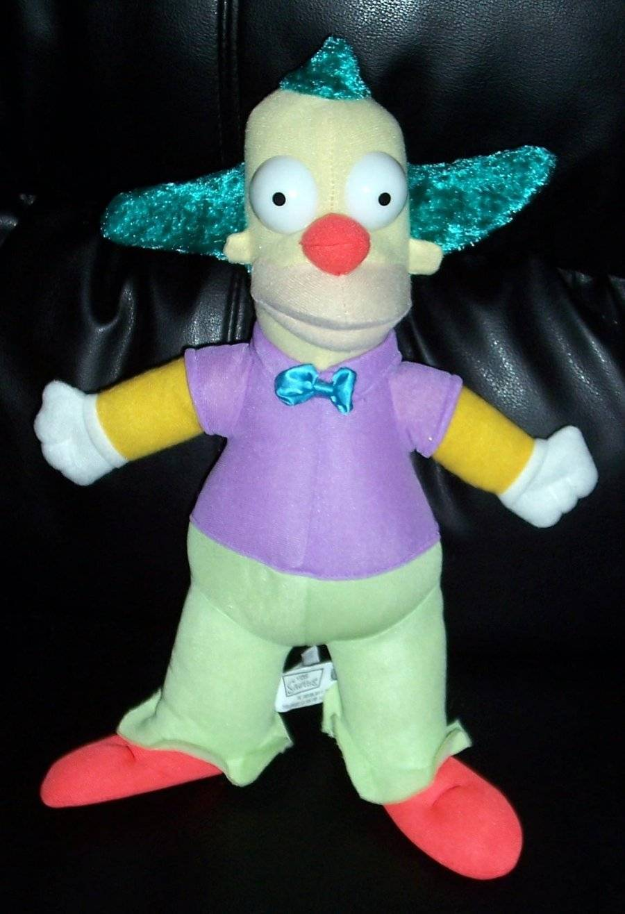 "Simpsons Plush 14"" Krusty the Clown Looking for a Fun Home - $7.59"