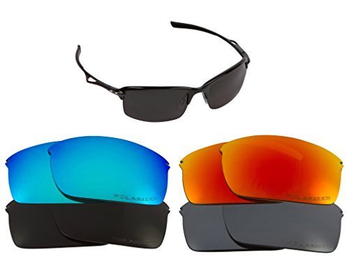 New SEEK Replacement Lenses Oakley WIRETAP - Gold Mirror image 2