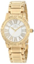 NWT Invicta Women's 13959 Angel White Mother-Of-Pearl Dial Diamond Accent Watch - $94.95