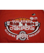 NCAA Ohio State Buckeyes Big Ten Basketball Championship Red College T S... - $18.65