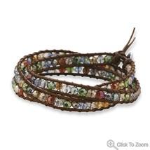 Fashion Wraps leather crystal stone Bracelet Choice Forever Love image 3