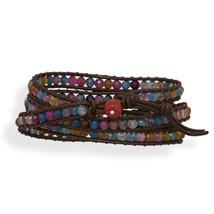 Fashion Wraps leather crystal stone Bracelet Choice Forever Love image 5