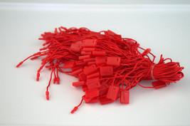 "7"" 500 Pcs RED Hang Tag Nylon String FLAT Snap Lock Pin Loop Fastener Ties - $14.83"