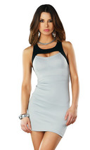 Forplay Clubwear Dafni Grey Color Blocked Mini Dress - $14.99