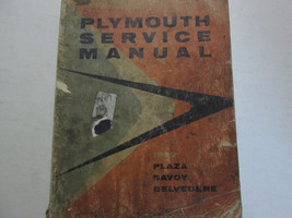 1957 Plymouth Plaza Savoy Belvedere Service Shop Repair Manual OEM DAMAGED - $19.79