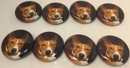 "Set Of 8 ""Red Basenji Face"" Fridge Magnets / 8 ... - $11.61"