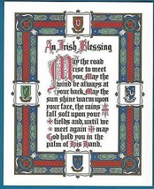 """Religious Print Picture IRISH BLESSING Celtic Ireland 8x10"""" ready to frame - $14.01"""