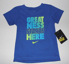 Nike Infant Girls T-Shirt Blue  Size 12 , 18 or 24 Months  NWT - $11.19