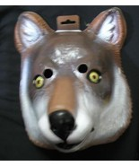 ADULT SIZE  WOLF PLASTIC FACE MASK  - $10.00