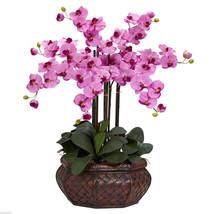 "Large Phalaenopsis Silk Flower 30"" Arrangement nearly natural 1201 Mauve - $149.99"