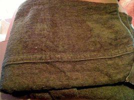 "US Army Vintage Vietnam Era Large Green 66"" x 80"" Polyester Blanket Or R... - $10.00"
