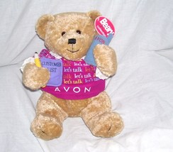 LET'S TALK AVON * GABBIGAIL * Teddy Bear Vintage Plush From 1990s w/tag - $21.96