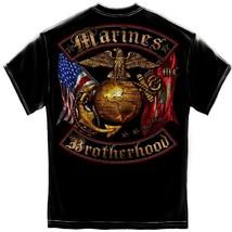 New USMC MARINES BROTHERHOOD T SHIRT  Licensed SHIRT Gold Foil - £14.39 GBP+