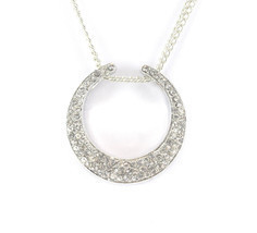 Fashion Jewelry Women's Crescent Moon Necklace Earring Set Mother's Day ... - $2.67