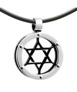 Stainless Steel Magen David Star of David Judaica Jewish Charm Pendant Necklace - $27.49