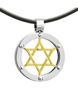 Stainless Steel Magen David Star of David Judaica Jewish Charm Pendant Necklace - $22.27 - $24.74