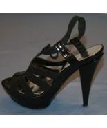 Jessica Simpson Black Stiletto Heels Sz 9B 9 B Kambodia Pumps Strappy - $28.67