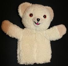 "Vtg Snuggle Teddy Bear Russ Hand Puppet 12"" Plush Stuffed Animal - $17.05"