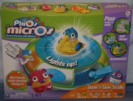 PixOs Micros Kit Show N Glow Studio Kit Spin Master Craft Lights Up New - $15.12