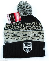 Los Angeles Kings Reebok 2011 NHL Premiere Team Logo Pom Knit Hockey Hat Beanie - $19.94