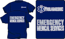 Paramedic Emergency Medical Services Cotton T Shirts With Reflective Imprint - $19.75+
