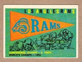 1959 Topps #126 Los Angeles Rams Team Card EX+ condition - $3.96