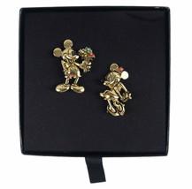 Vintage Disney Napier Mickey And Minnie Flower Bouquet Pins Brooch Box C... - $46.58