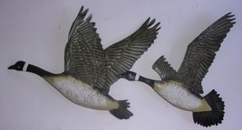 "In Flight Pair of Canadian Geese / Metal Art / Wall Decor 18"" Wide  WMG ... - $14.00"