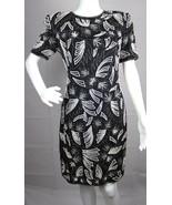 Night Vogue women's dress black silk beaded sequin evening dress size S - $33.97