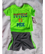 "Tuff Guys 2 Piece Outfit size 12M ""Future #1 Pick"" Shirt & Shorts NWT - $11.88"
