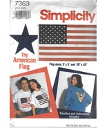 Simplicity American Flag and Eagle Transfer Pattern 7363 Fourth of July - $7.99