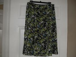 Le Suit Womens New Black/Palm Multi Flare Silhouette Skirt   4 - $18.98
