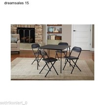 Home Garden Patio Outdoor Living Yard Furniture 5-Piece Card Table Set,B... - $119.99