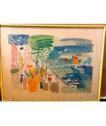 CHARLES COBELLE original LITHOGRAPH PRINT Hockney Normandy France NORMAN... - $1,799.99
