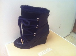 Michael Kors Lizzie Lace Up Wedge Fur Women Boo... - $99.99