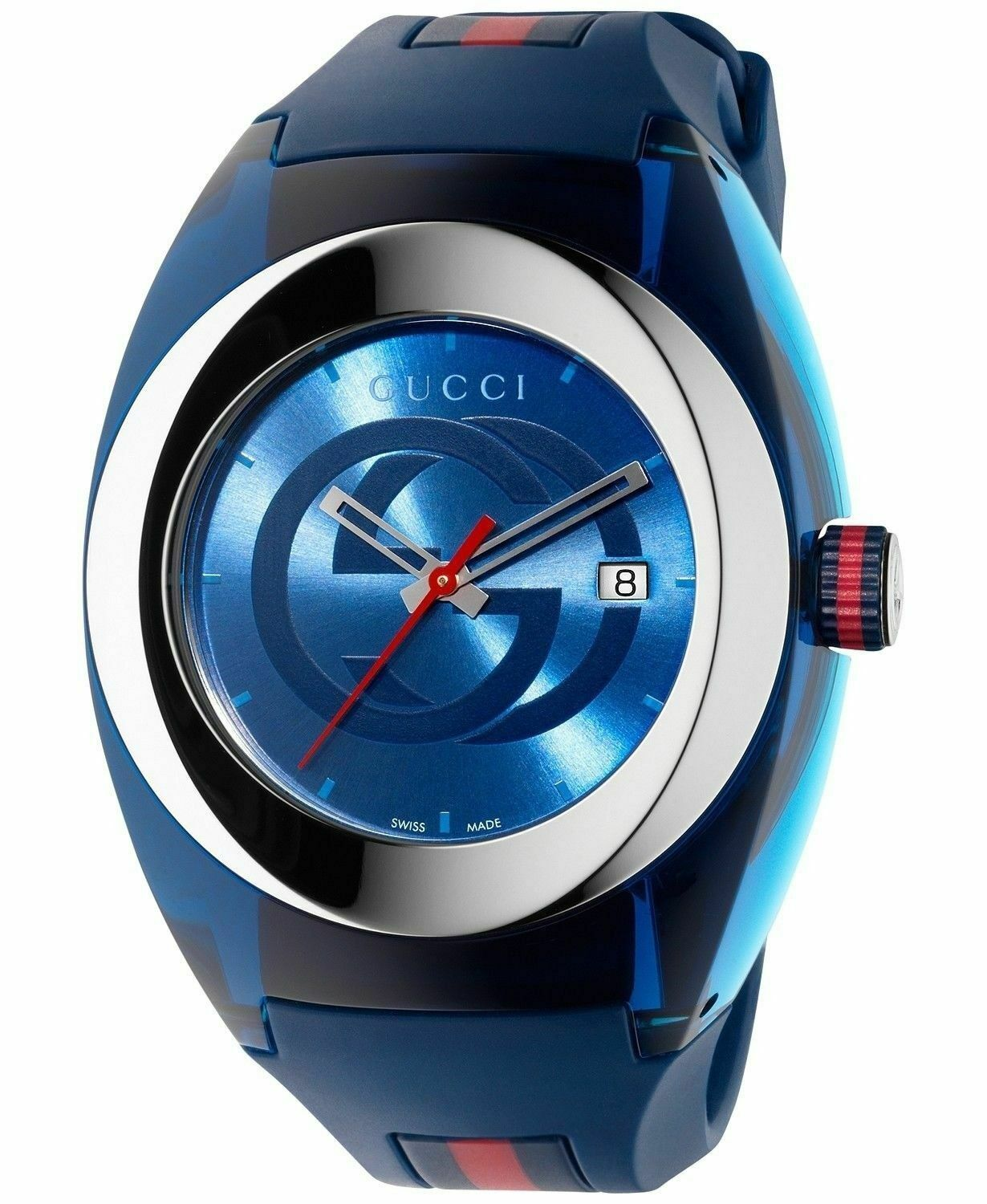 Latest Gucci Stainless Steel WYNC Quartz Mens Watch YA137104 image 4