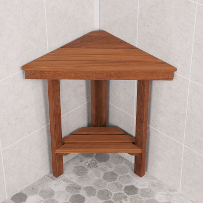 Teak Corner Bench Small For Shower And Outside Area Other