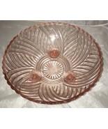 Pink Depression Glass Scallop Edge Pedestal Small Fruit Bowl - $28.01