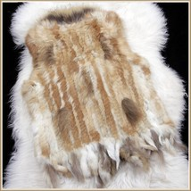 Genuine Natural Real Rabbit Fur Knitted Tassel Vest Fun Fashion Furs Winter Wear image 2