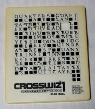Crosswiz1 - Crossword Puzzle - Play Ball - Slide Puzzle - $10.00