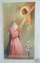 Vintage Catholic Holy Card St. Catherine Siena Mystic Picture - $9.49